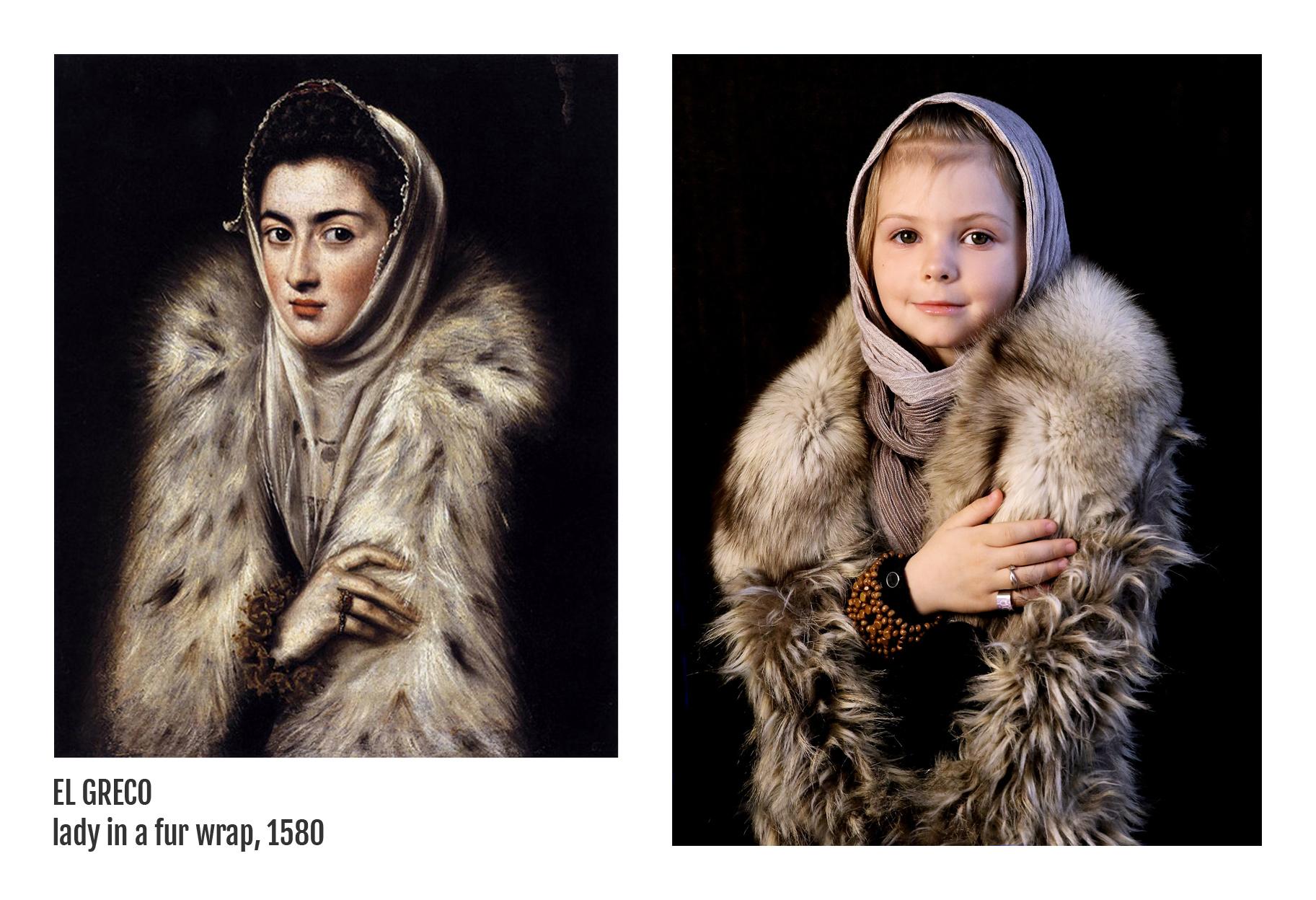 El Greco - Lady in a fur wrap