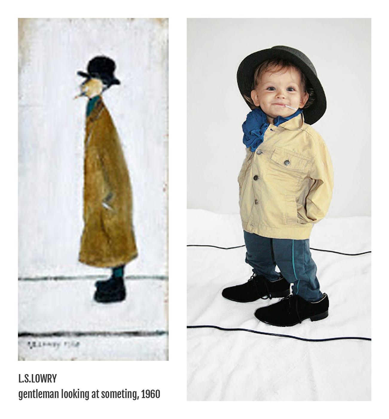 L.S.Lowry - Gentleman looking at something