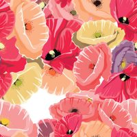 round-poppies-seamless-pattern